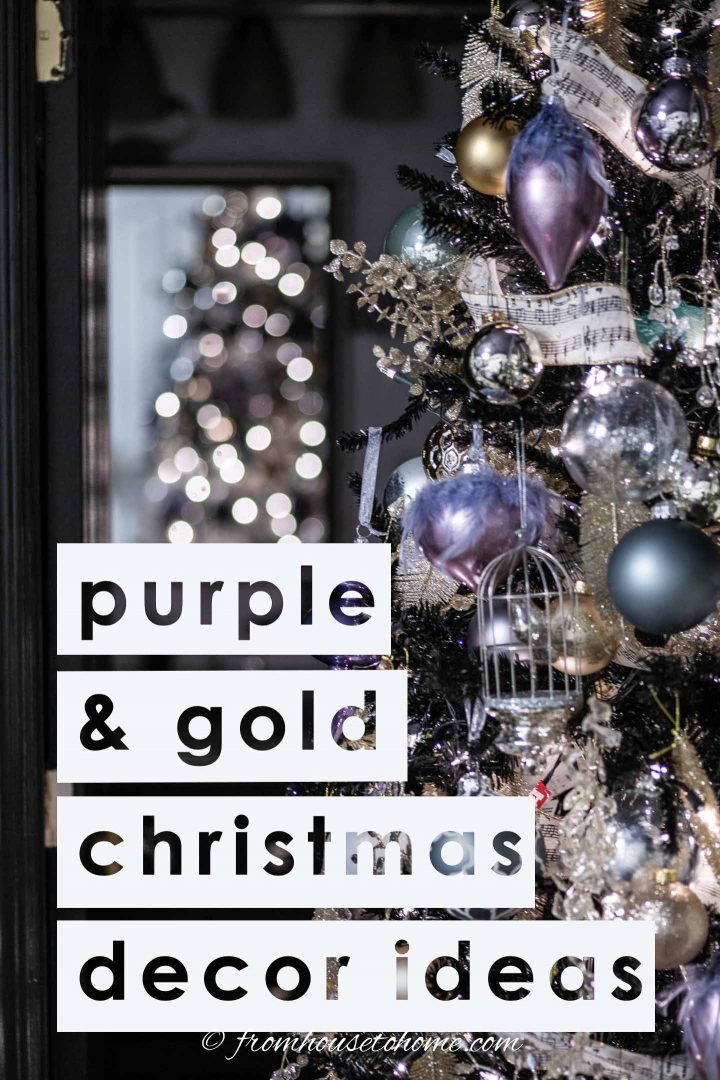 Purple and gold Christmas decor ideas