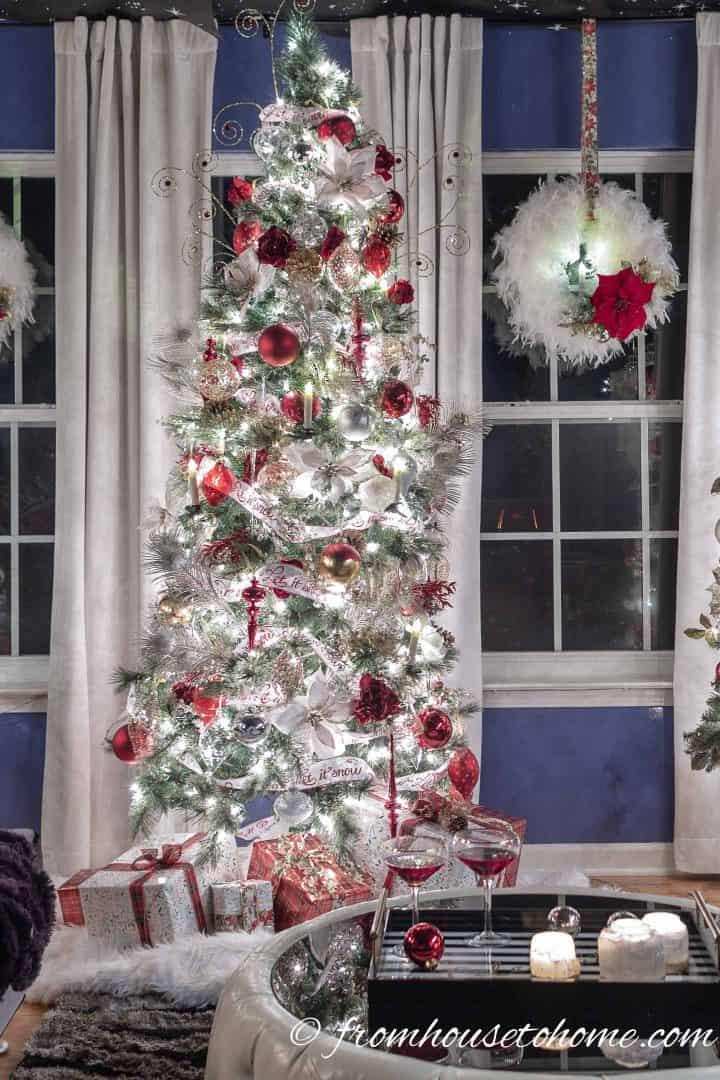 gold christmas home decor ideas
