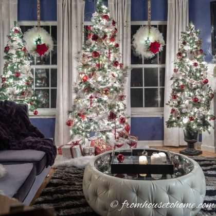 White, Red and Gold Christmas Home Decor Ideas (and 30+ Other Christmas Decorating Ideas)