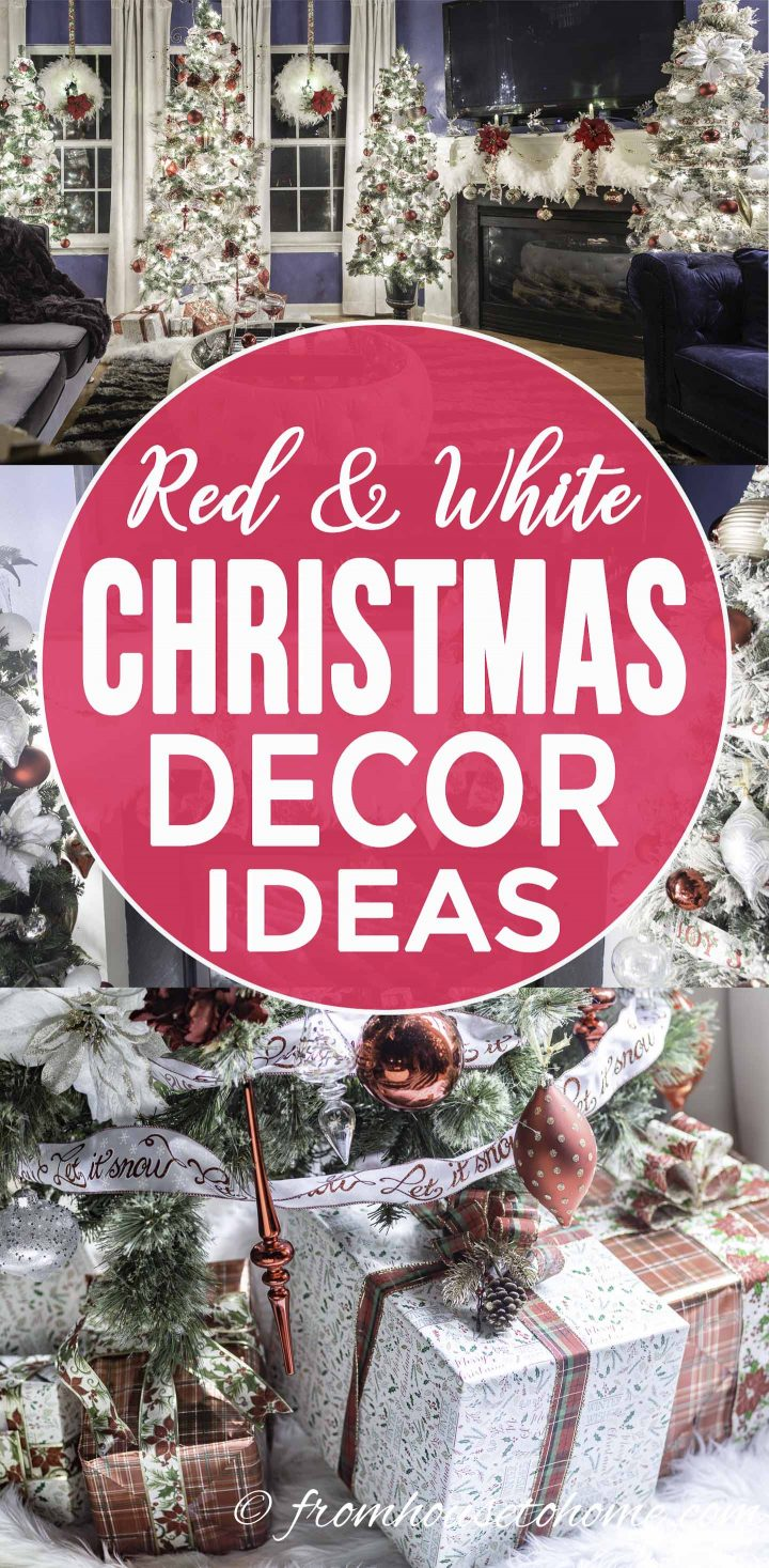 White, red and gold Christmas home decorating ideas