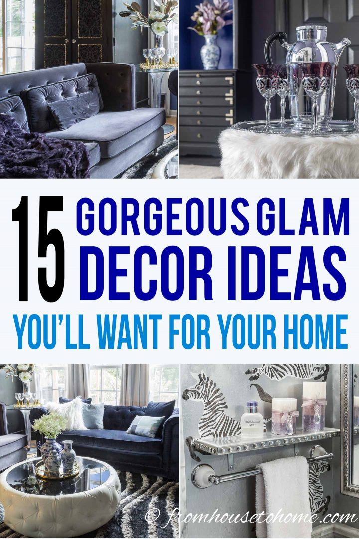 how to add glamour to your home