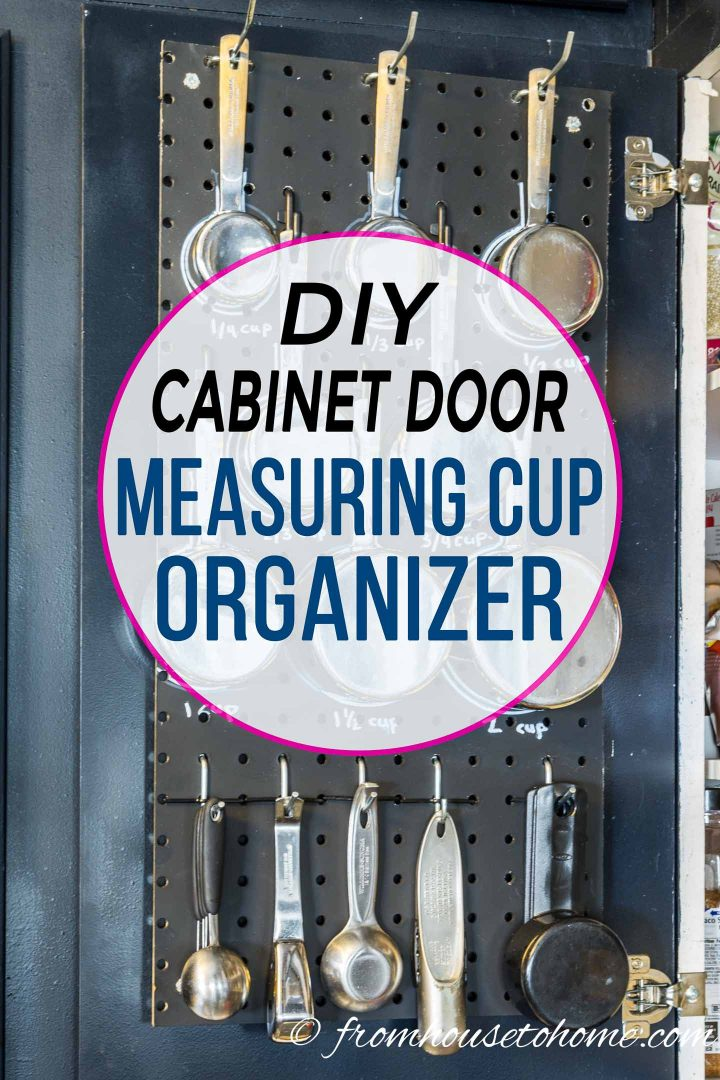 DIY cabinet measuring cup makeover