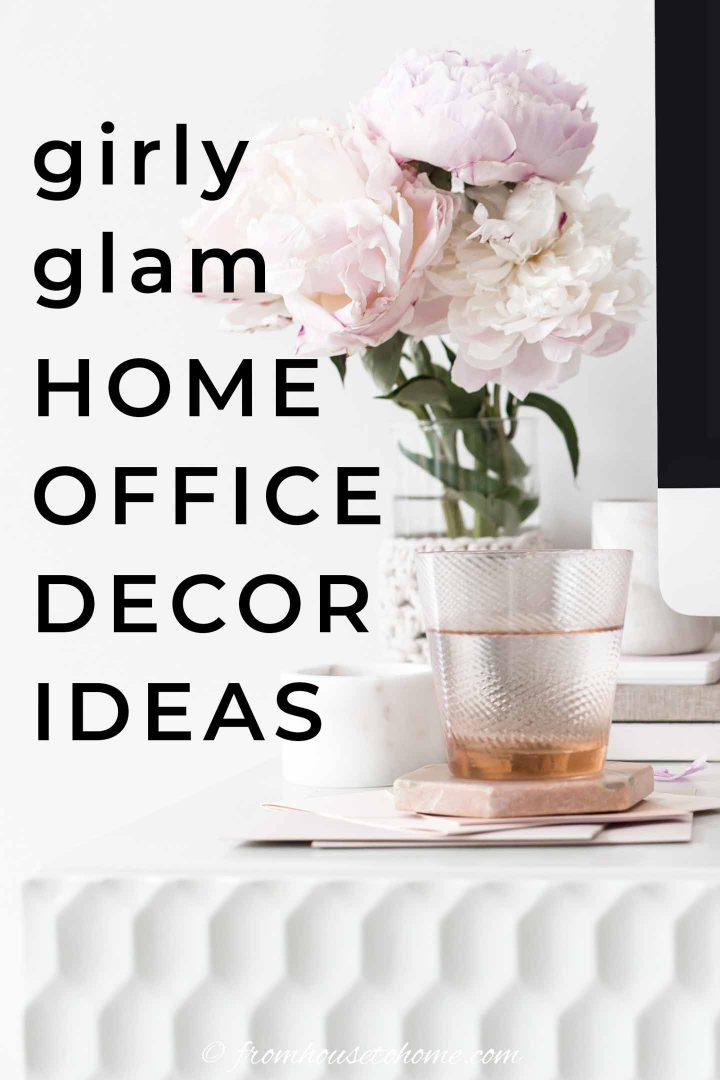 Girly glam home office decor ideas