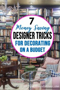 Designer money saving decorating tips