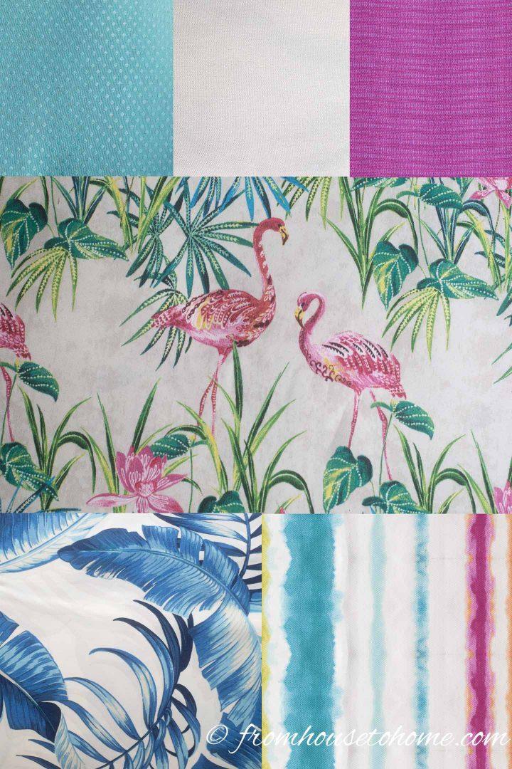 Palm beach chic outdoor decor ideas for fabrics