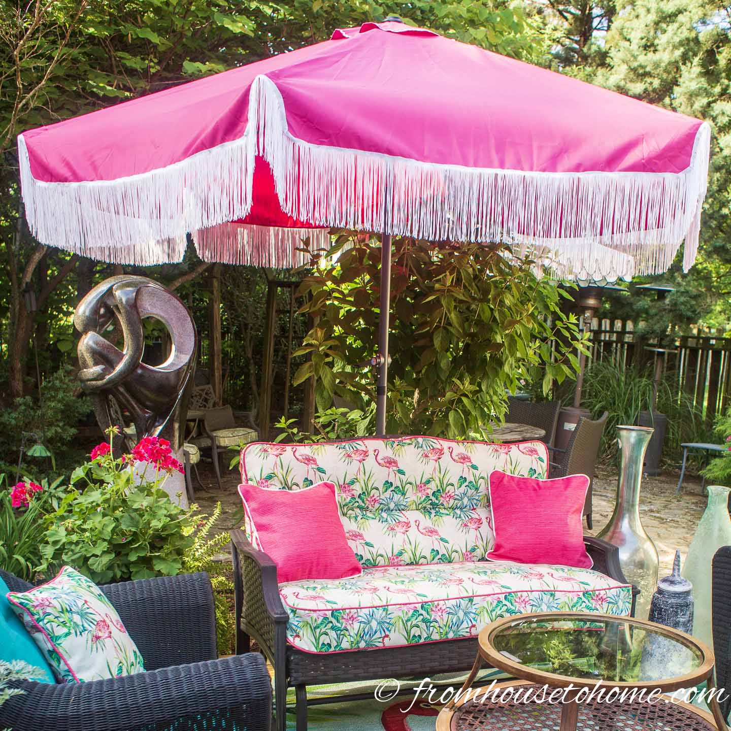 Glam Diy Fringe Patio Umbrella No Sewing Required