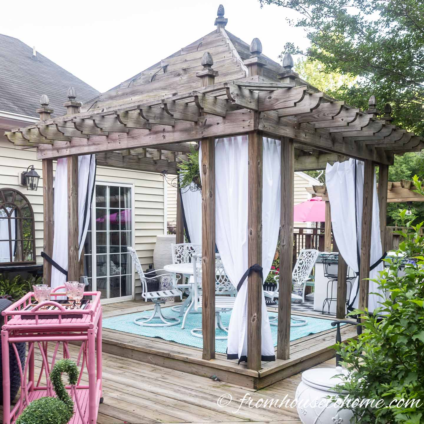 How To Make Inexpensive Diy Outdoor Curtains That Look Custom