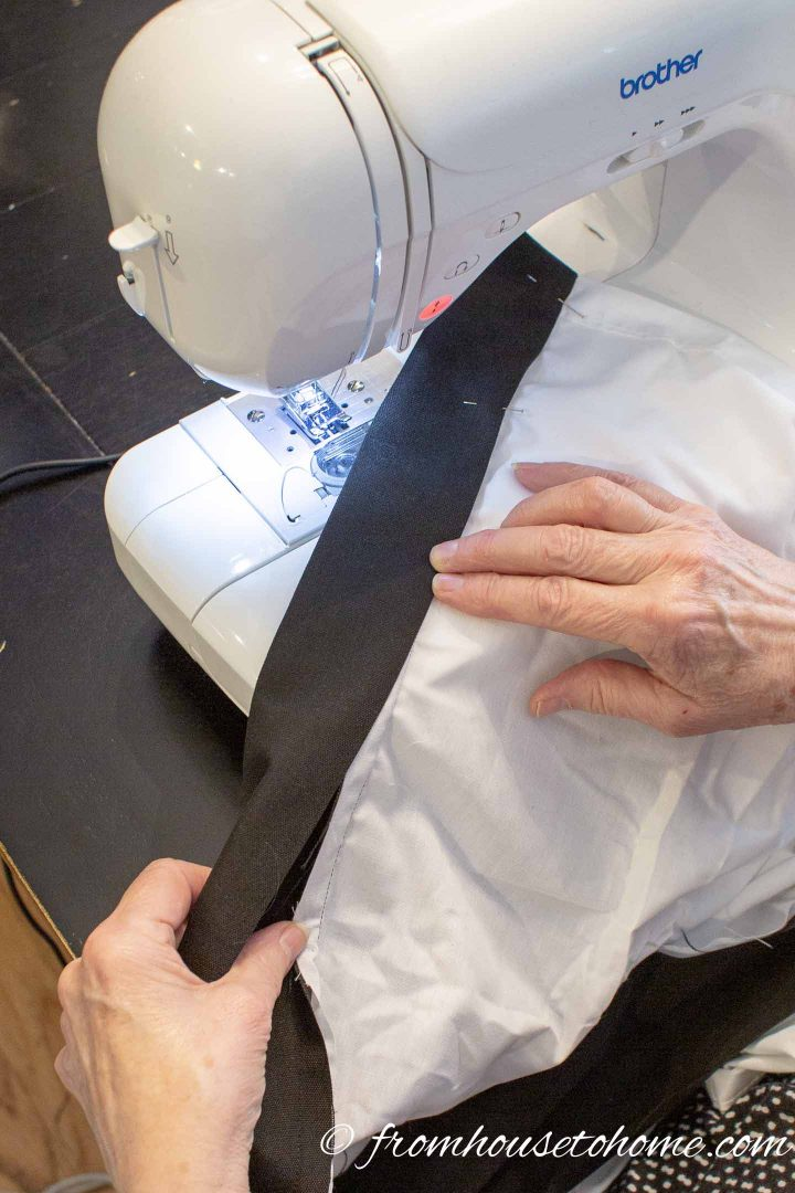 Fold the band over to cover the original seam