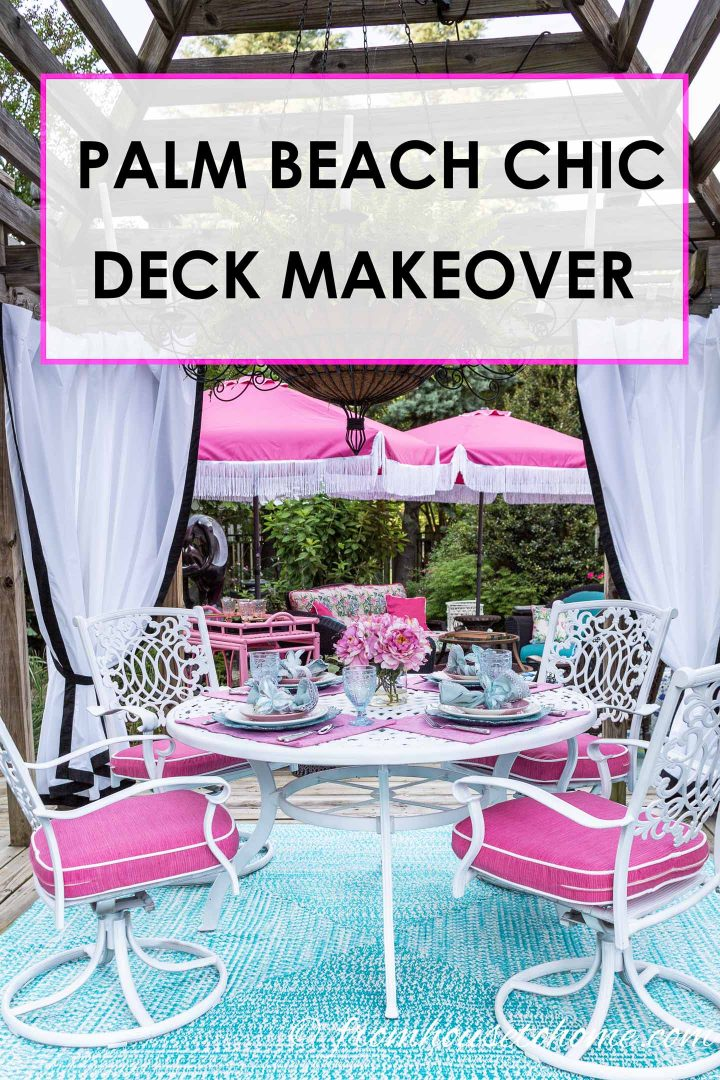 Palm Beach chic deck makeover
