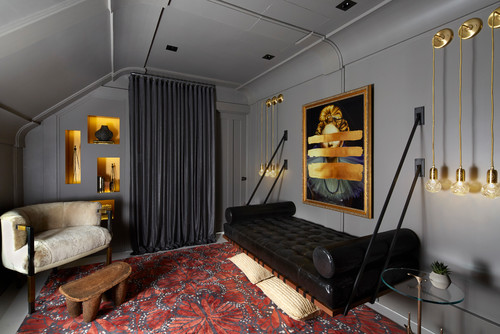 Daybed hung from the wall