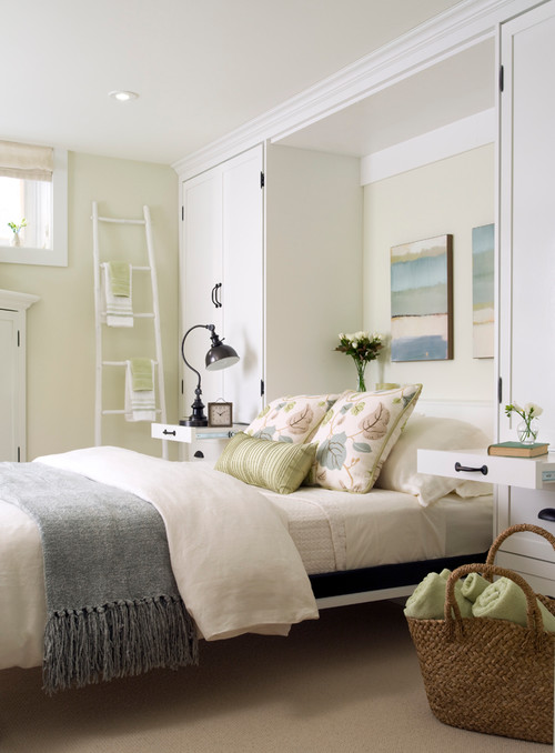 murphy bed in a small bedroom