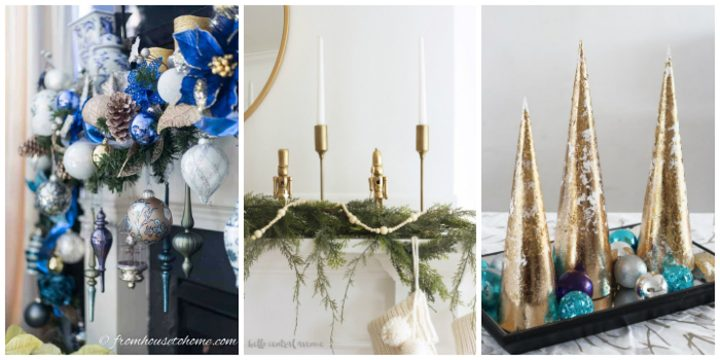 DIY Christmas mantel and centerpiece