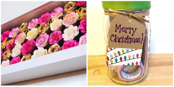 Floral Shadow Box and Crafter Christmas Jar