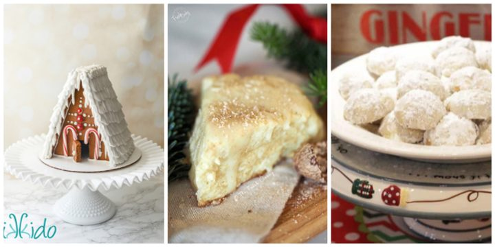 Best Gingerbread House Cookie Recipe, Eggnog Scones Recipe, and Pecan Sandies Recipe