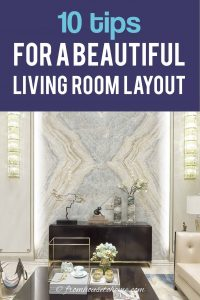 10 tips for a beautiful living room layout