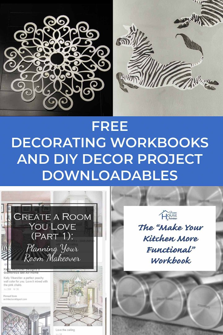 Free decorating workbooks and DIY decor project downloadables