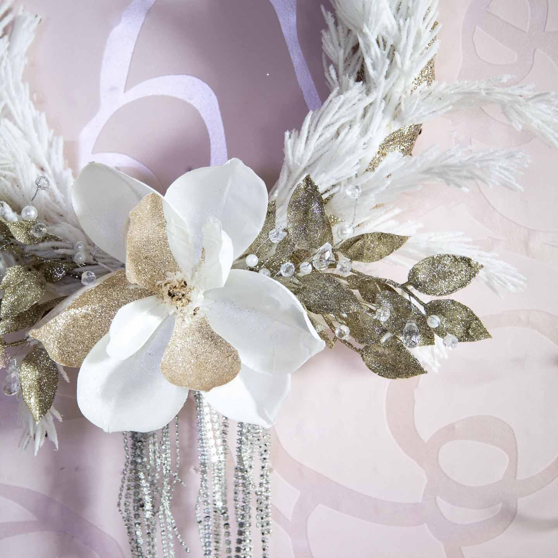 20 Minute Glittery Glam Diy Christmas Wreath