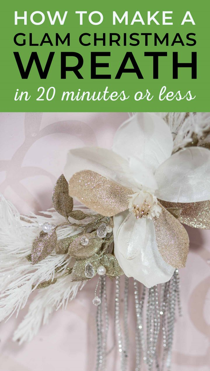 How to make a glam glittery DIY Christmas wreath in 20 minutes or less