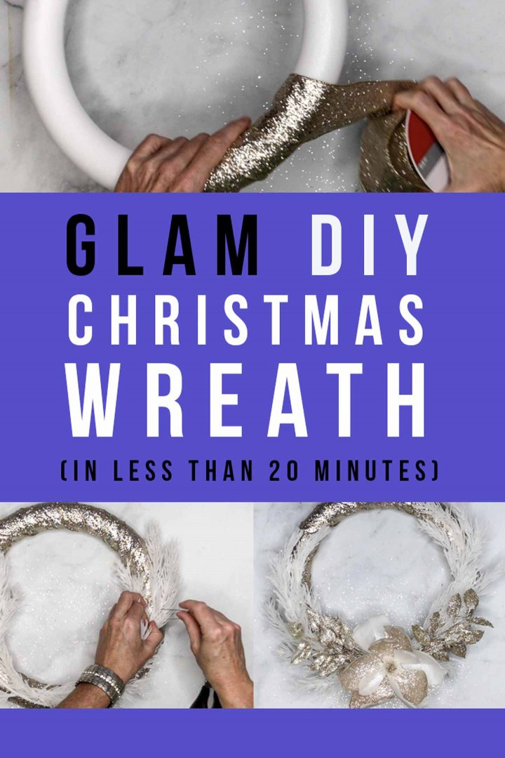 Glam DIY Christmas wreath