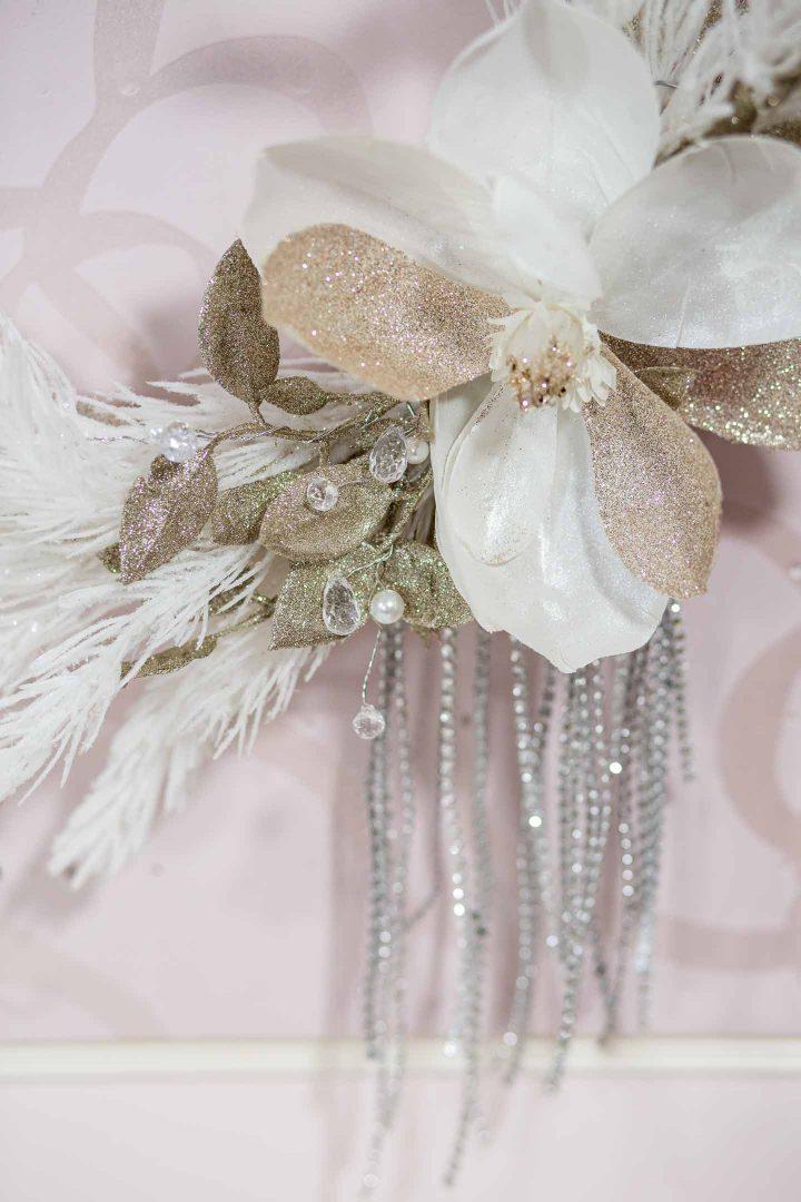 Glam glittery DIY Christmas wreath