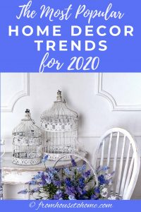 The most popular home decor trends for 2020