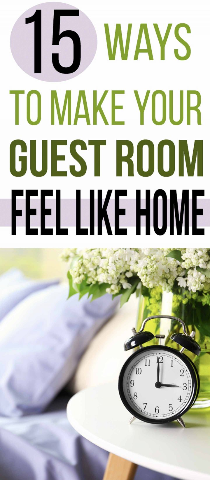 15 ways to make your guest room feel like home