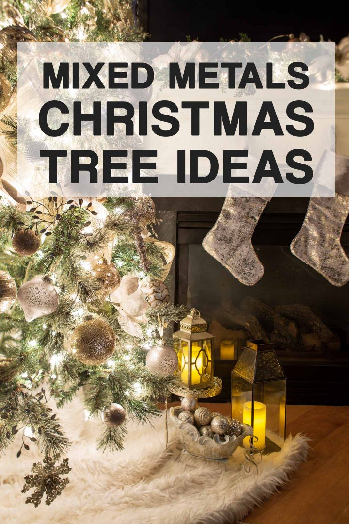 Mixed Metals Christmas Tree Decor Ideas