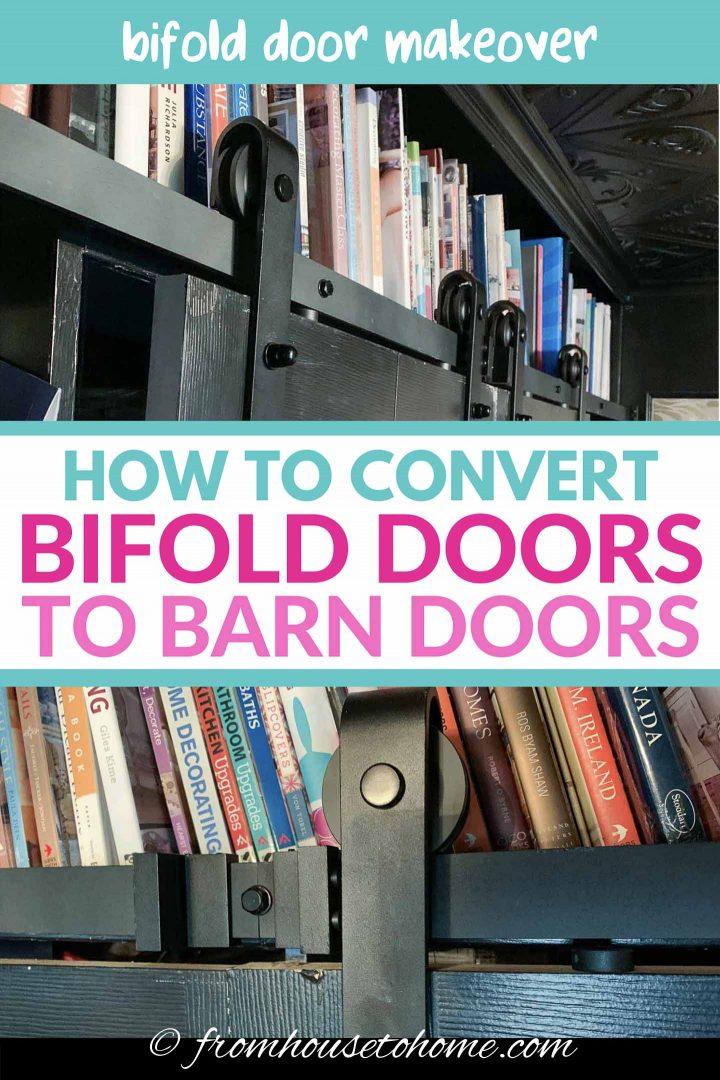 Bifold door makeover: How to convert bifold doors to barn doors