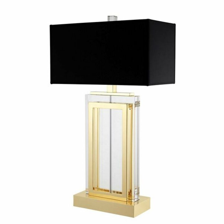 Home office lighting - black and gold crystal lamp