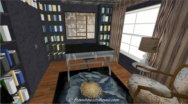 3-D rendering of the galley home office