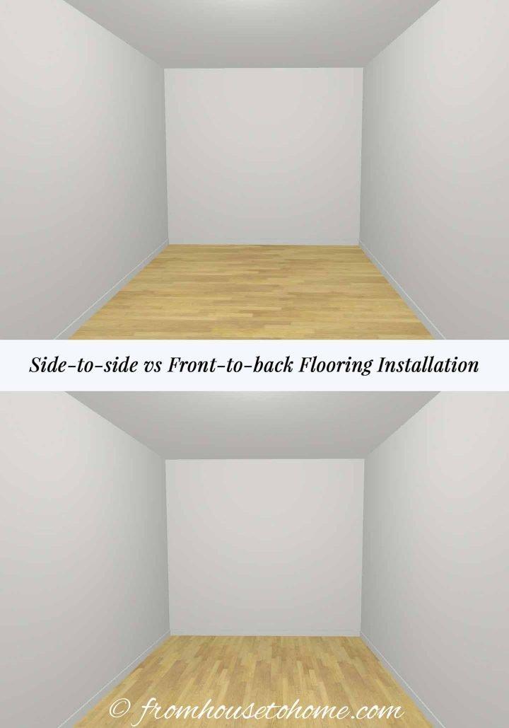 Flooring installation direction diagram