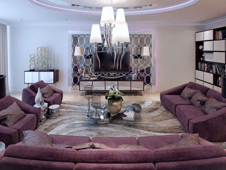 Asymmetrical living room