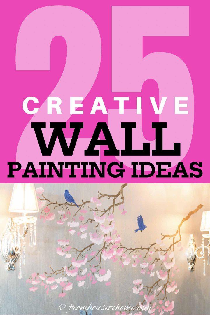 25 creative wall painting ideas