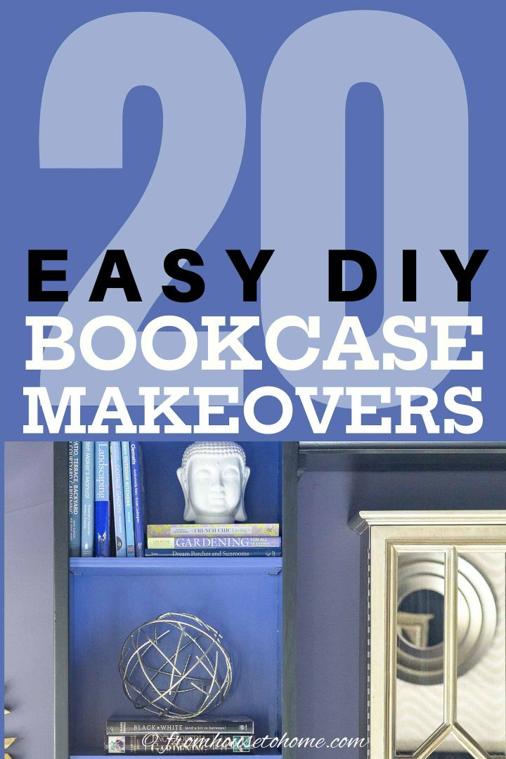 20 easy DIY bookcase makeovers