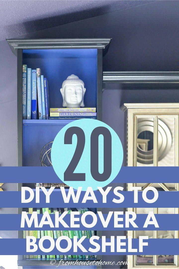 20 DIY ways to do bookshelf makeovers