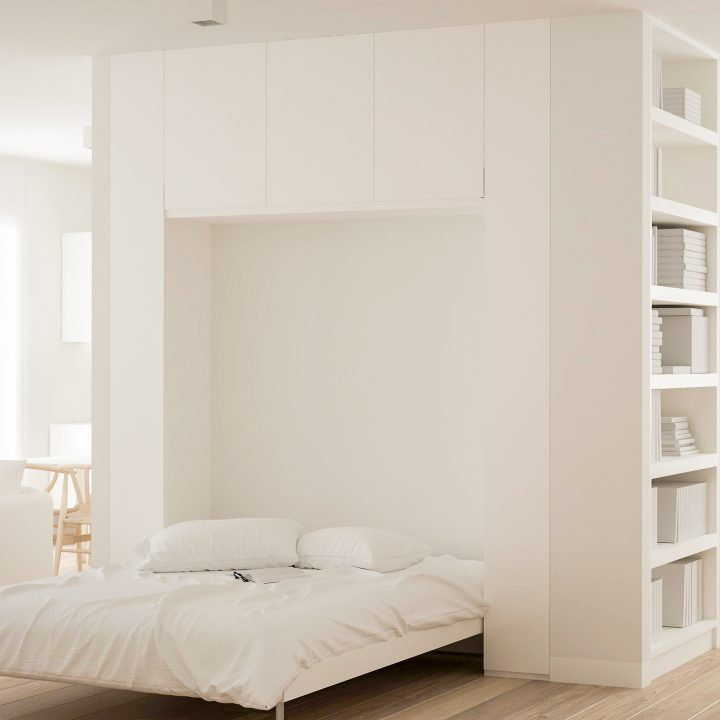 Murphy bed built into the wall ©ArchiVIZ - stock.adobe.com