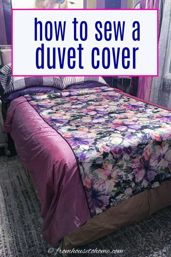 DIY Duvet Cover: How to sew a duvet cover