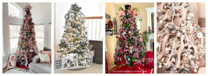 Christmas trees collage