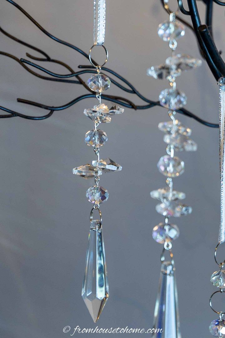 Uneven strand DIY crystal Christmas ornament