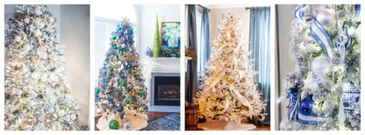 Collage of Christmas tree designs