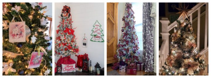 4 different christmas tree designs