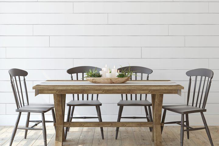 minimalistic Famhouse dining room