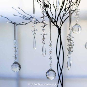 crystal DIY Christmas ornaments