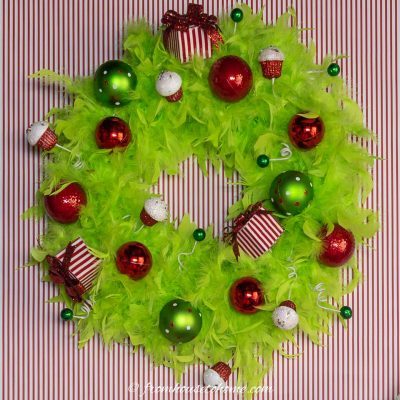 DIY Grinch wreath