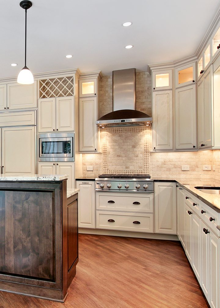 Kitchen with lots of task lighting