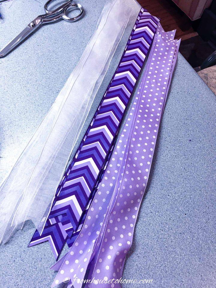 The longer cut ribbons