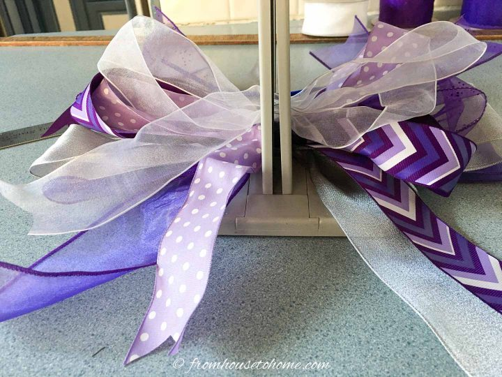 All of the ribbons on the Bowdabra bow maker