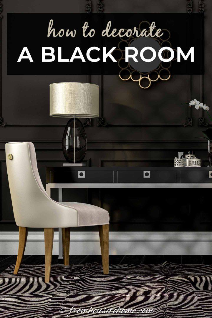 black room design ideas