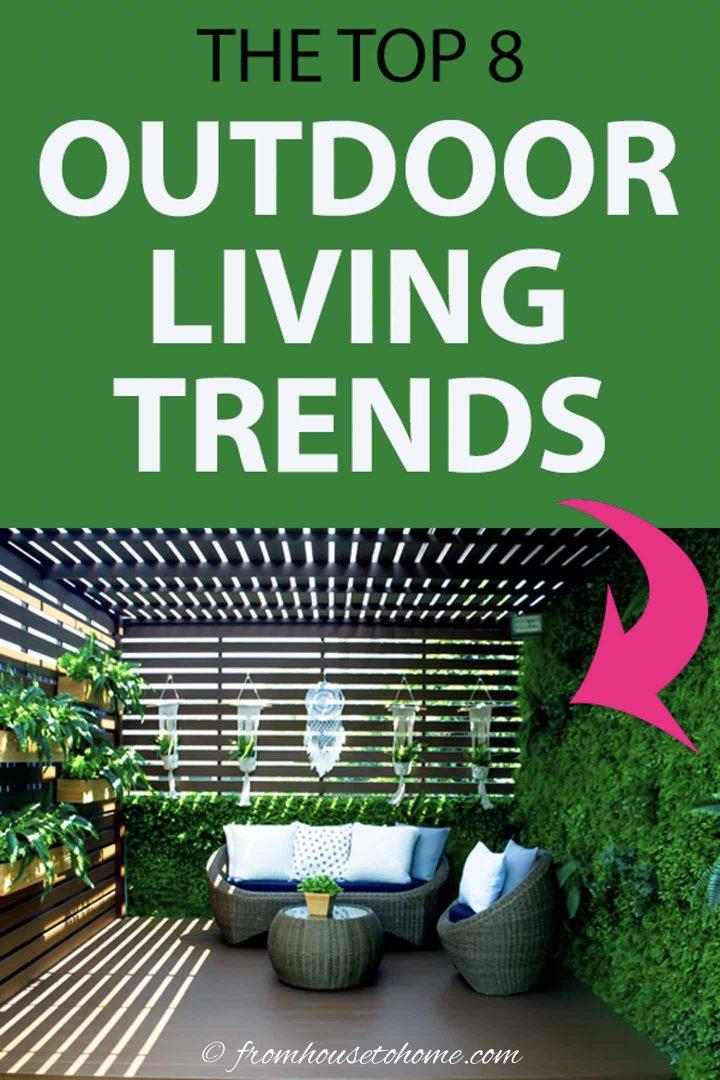 top outdoor living trends