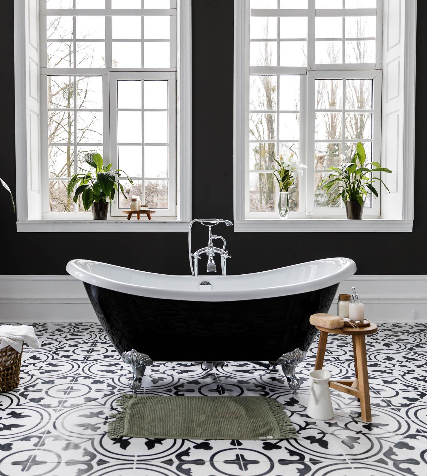 White Bathroom Floor Tile Ideas, Black And White Bathroom Floor Tile Ideas